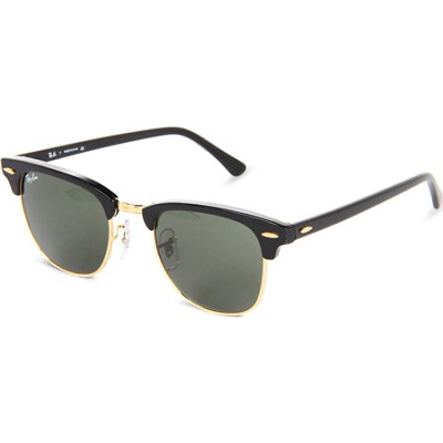 RB3016  Black 49MM Classic Clubmaster Sunglasses