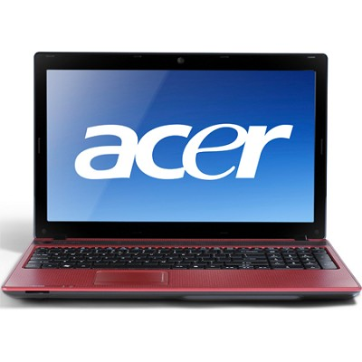 Aspire 15.6` Notebook Computer - Mesh Red (AS5552-3104)