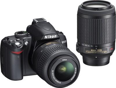 D3000 DX-format Digital SLR Outfit w/ 18-55mm & 55-200mm DX VR Zoom Lenses
