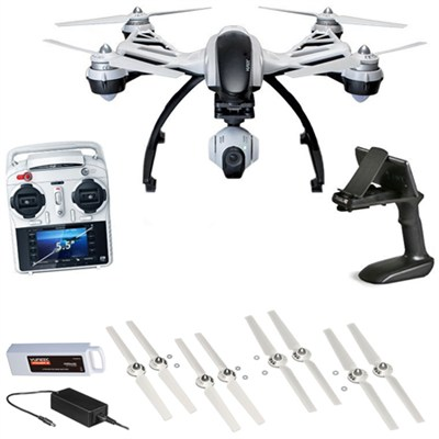 Q500+ Typhoon Quadcopter Drone + 3-Axis Gimbal Camera, Steady Grip Deluxe Bundle
