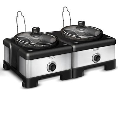 2x2.5-Quart Connectable Entertaining Slow Cooker System - 13972