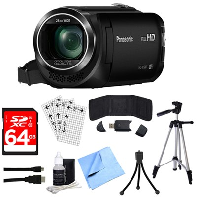 HC-W580K Full HD Camcorder w/ Built-in Wi-fi, Multi Scene Twin Camera + 64GB Kit