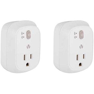 2-Pack WiFi Smartplug Home Automation for Android & iOS (White)HA1002