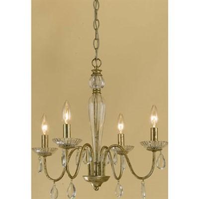 Judy Mini Chandelier 4-60W Candle Bulbs 18 HX19 W Hardwire Option