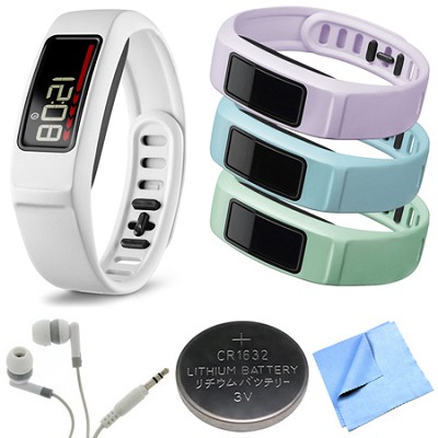Vivofit 2 Bluetooth Fitness Band (White)(010-01503-01) Mint/Cloud/Lilac Bundle