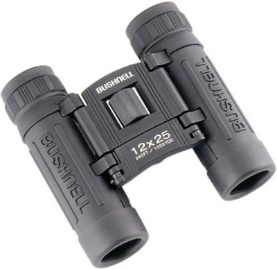 Powerview 12x25 Compact Folding Roof Prism Binocular (Black)