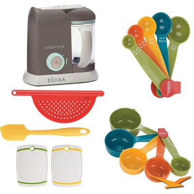 Babycook Pro Baby Food Processor and Steamer - Latte - Deluxe Bundle