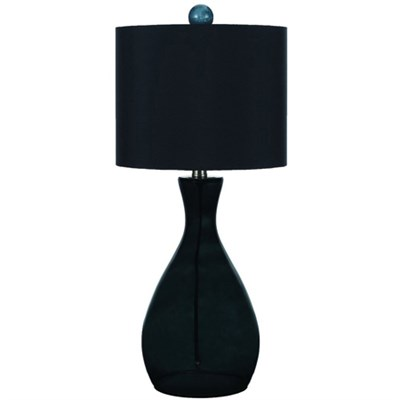 Mercer Hand-Blown Glass Table Lamp in Smoke - 8517-TL