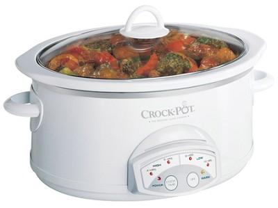 5.5-qt. Smart-Pot Crock-Pot Slow Cooker (White)