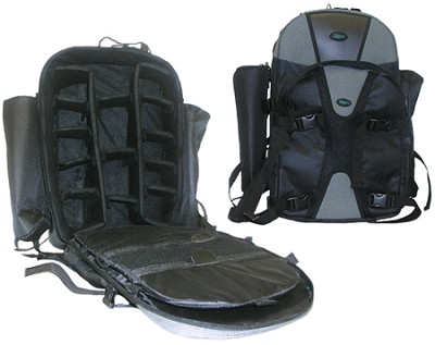 Adventurer Series Photography DSLR Camera Backpack - Pro (Black/Gray)