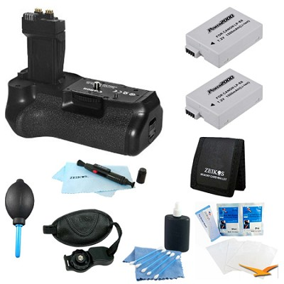 Advanced BG-E8 Battery Grip Bundle for EOS Rebel T4I, T3I and T2I