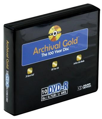 Archival Gold DVD-R Retail Hard Case Binder w/10 Sleeves (10 Discs)
