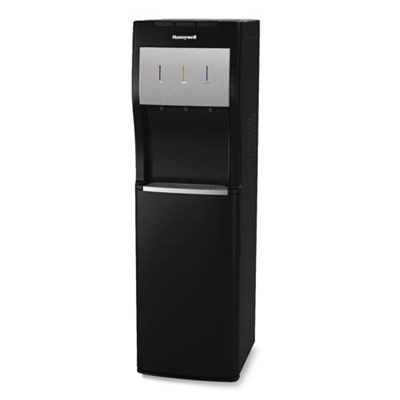 5-Gallon Hot, Cold and Room Temp Bottom-Loading Water Dispenser, Black