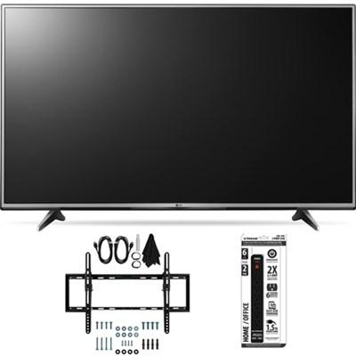 55UH6150 55-Inch 4K UHD Smart TV with webOS 3.0 Flat + Tilt Wall Mount Bundle