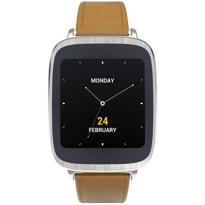 ZenWatch Android Wear Waterproof Smartwatch Leather Brown