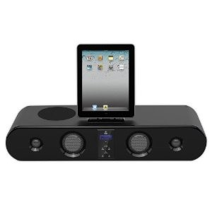 iPad/iPod/iPhone Sound Bar System With FM Radio, Wireless Remote, 300 Watts