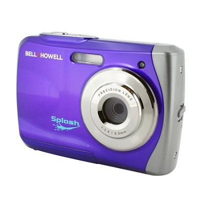 Splash WP7 12MP Waterproof Camera, Anti-Shake, (Purple) - OPEN BOX