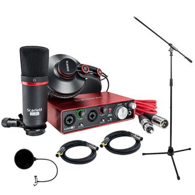 Scarlett 2i2 Studio Pack & Recording Bundle - 2nd Gen w/ Pro Tools