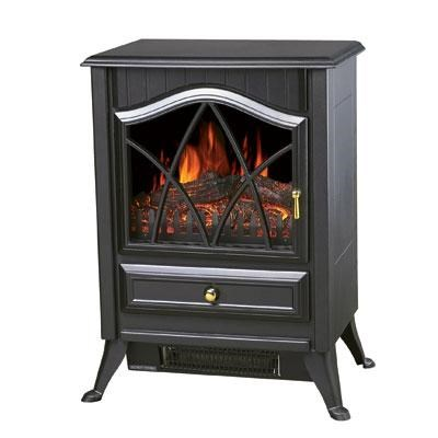Comfort Glow Ashton Electric Stove in Matte Black - ES4215