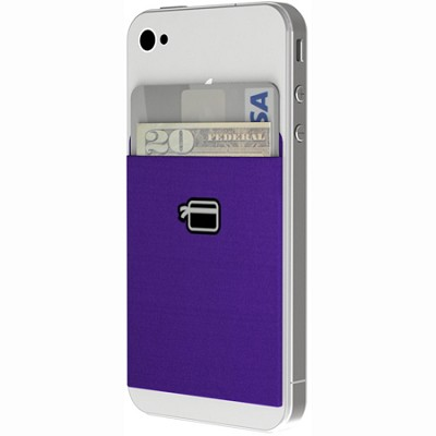 Ultra-Slim Wallet Compatible with all Smartphones (Eggplant Purple)