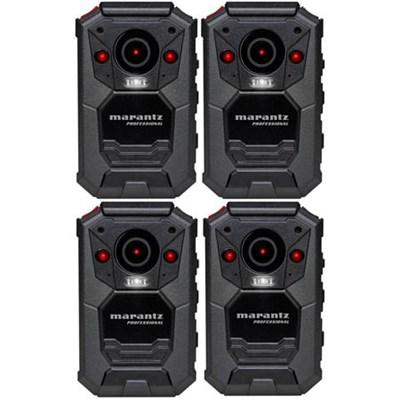 4-Pack Professional Grade Wearable Body Video Camera w/ GPS (PMD-901V)