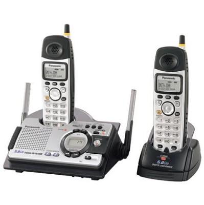 KX-TG5439S 5.8 GHz  Dual-Handset Shock & Splash Resistant Phone w/ Answering Sys