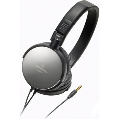 ATH-ES7 Refurbished Portable Stainless Steel Headphones (Black)