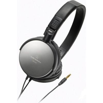 ATH-ES7 Refurbished Portable Stainless Steel Headphones (Black)