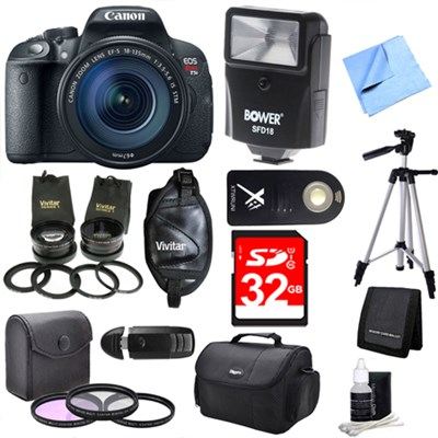 EOS Rebel T5i 18MP SLR Camera with 18-135mm STM 3 Lens Ultra Kit
