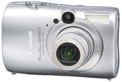 Powershot SD990 IS 14.7 MP Digital ELPH Camera (Silver)