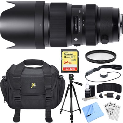 50-100mm F1.8 DC HSM Lens for Sigma SA Mount Essential Accessory Deluxe Bundle