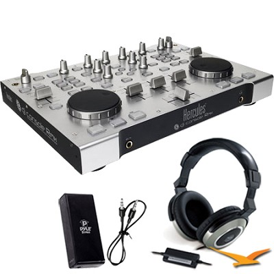 DJ Console RMX Bonus Genius Headphones & Pyle Headphone Amplifier Kit