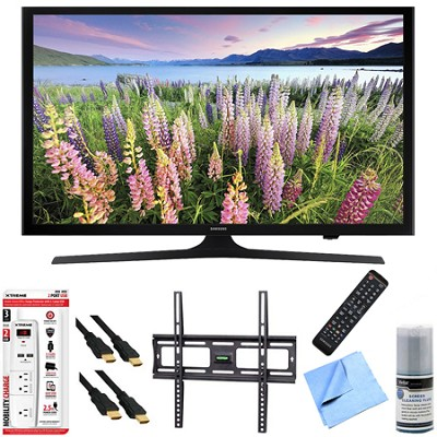 UN43J5000 - 43-Inch Full HD 1080p LED HDTV Mount & Hook-Up Bundle