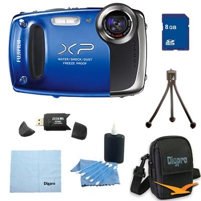 Finepix XP50 14MP CMOS Digital Camera 8 GB Bundle (Blue)