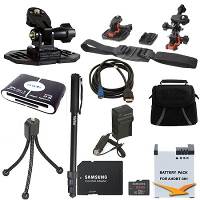 GoPro Helmet Accessory Kit 2 for the Hero 4 , Hero 4+ and all action cameras