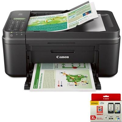PIXMA MX492 Wireless Color Printer w/ Scanner/Copier + Ink + Photo Paper Bundle