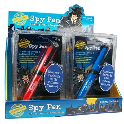Spy Pen Listening Device & Ballpoint Pen - Red or Blue