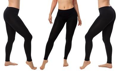 Seamless Yoga Leggings 6-Pack in Midnight Black ( Size S/M )