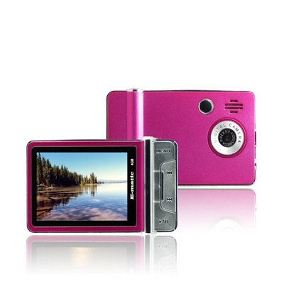 2.4` Color MP3 Video Player 4GB W/Built-in 5MP Digital Camera - Pink