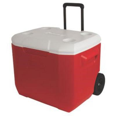 60 quart Wheeled Cooler, Red