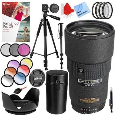 180mm f/2.8D ED-IF AF Nikkor Lens with 72mm Filter Sets Kit
