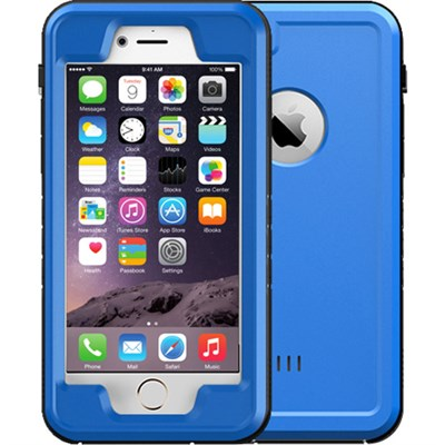 Blue 4.7` Shock Resistant Waterproof Case for Apple iPhone 6/6S