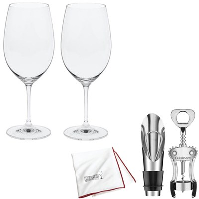 Vinum Bordeaux Wine Glasses - Set of 2 + Wine Lover's Gift Set