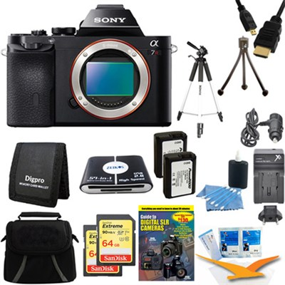 Alpha 7R a7R Digital Camera and 2 64 GB SDXC Cards and 2 Batteries Bundle