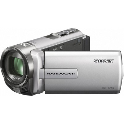 DCR-SX65 Handycam Compact Silver 4GB Camcorder w/ 60x Optical Zoom