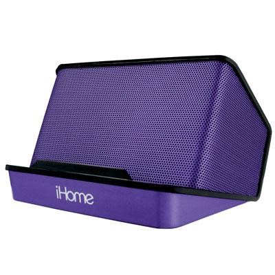 Portable Rechargeable Stereo Speaker System in Purple - iHM27UC