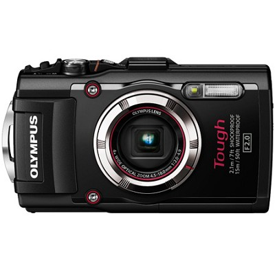 TG-3 16MP 1080p HD Shockproof Waterproof Digital Camera - Black