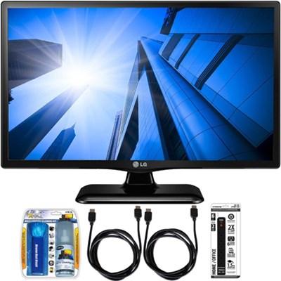 LG24LF452B - 24-Inch HD 720p 60Hz LED TV Essential Accessory Bundle