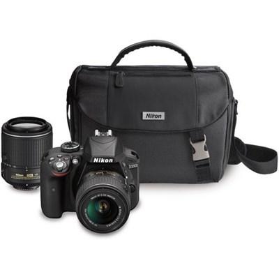 Refurbished D3300 24.2MP DSLR + 18-55 & 55-200 VR II Lenses & Case Bundle