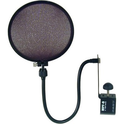 MPF-6 6-Inch Clamp On Microphone Pop Filter